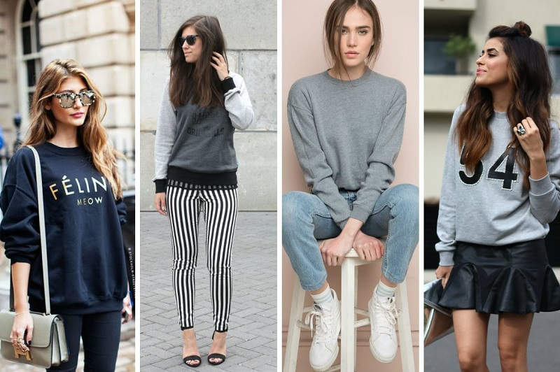 Fashionable sweatshirts of the season winter 2018-2019