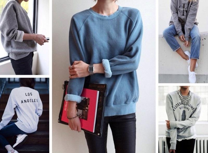 Fashionable sweatshirts of the season winter 2018-2019