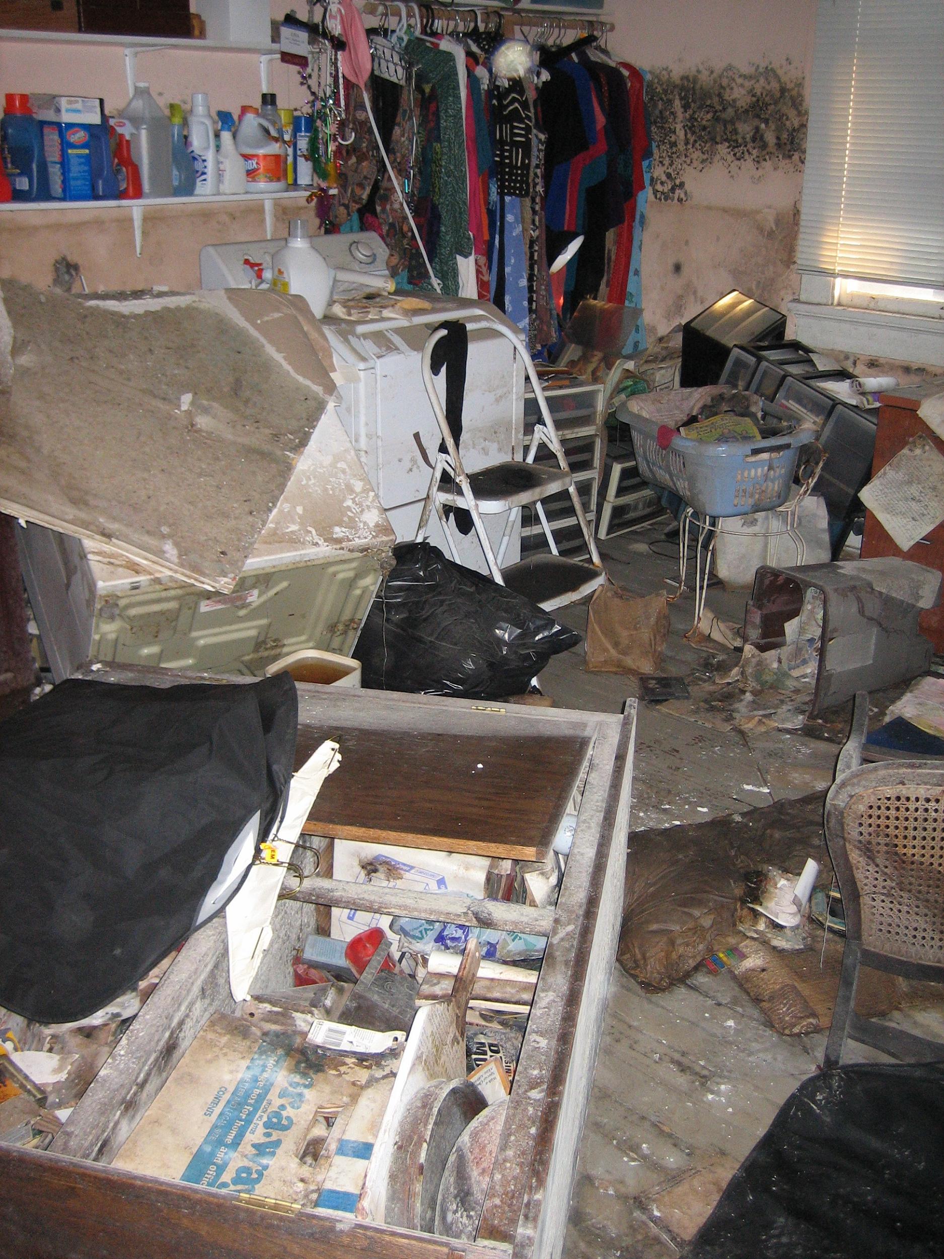 Flood damage restoration processes