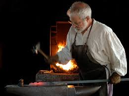 The skilled work of the Blacksmith.