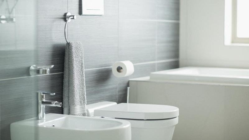 Hygienic Shower In The Bathroom