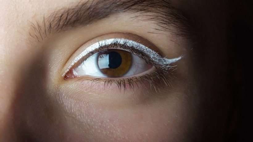 Make up with white eyeliner